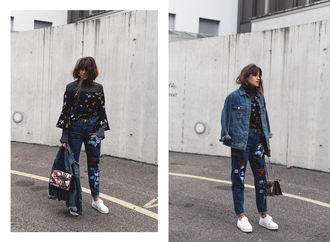 the fashion fraction blogger jacket sweater top jeans bag shoes oversized jacket topshop turtleneck sweater asos off the shoulder zalando streetwear