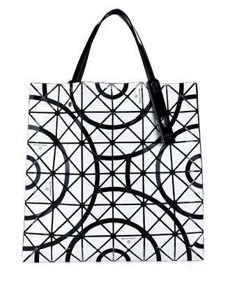 pattern white print bag