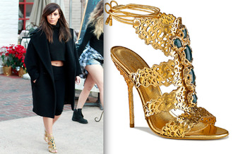shoes keeping up with the kardashians kim kardashian gold high heels