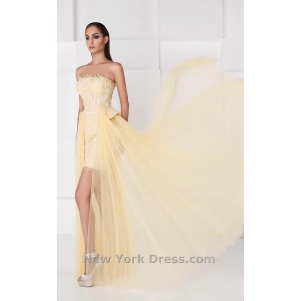 dress saiid kobeisy unique shoes bridesmaids ring party dress high-low dresses