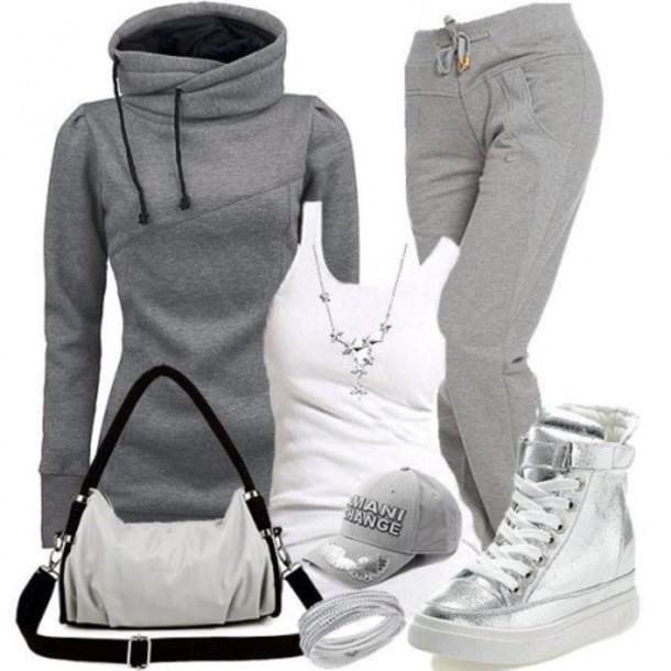 sweater gray hoodie