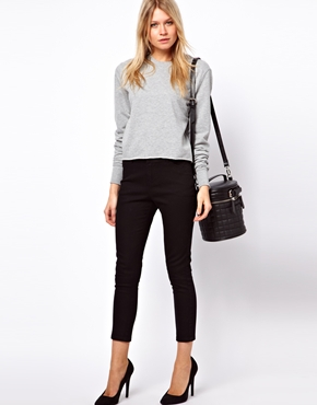 ASOS | ASOS Crop Pants in Twill at ASOS