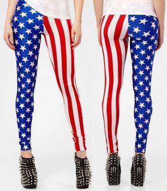 leggings american flag