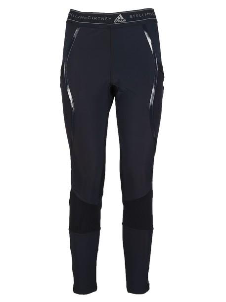 ADIDAS BY STELLA MCCARTNEY leggings run knit blue pants