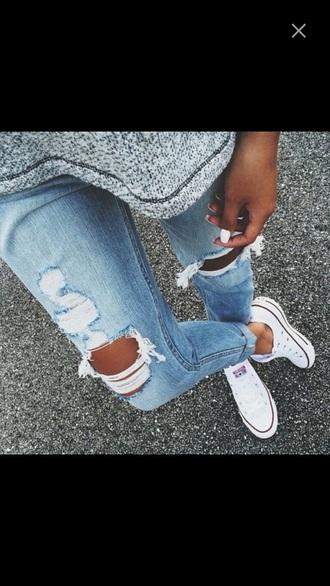 jeans jeans blue boyfriend jeans ripped jeans