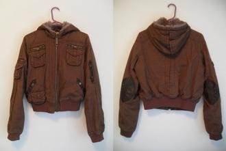 jacket coat picasso parka parka coat brown elbow patches lined stitching winter coat winter jacket parka jacket