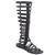 Bumper LORY90 Women's Strappy Knee High Flat Bottom Zipper Gladiator Sandal Boot | eBay