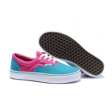 Vans Classic Era Skate Shoes - Blue/Pink - Vans Skate Shoes Outlet Store.