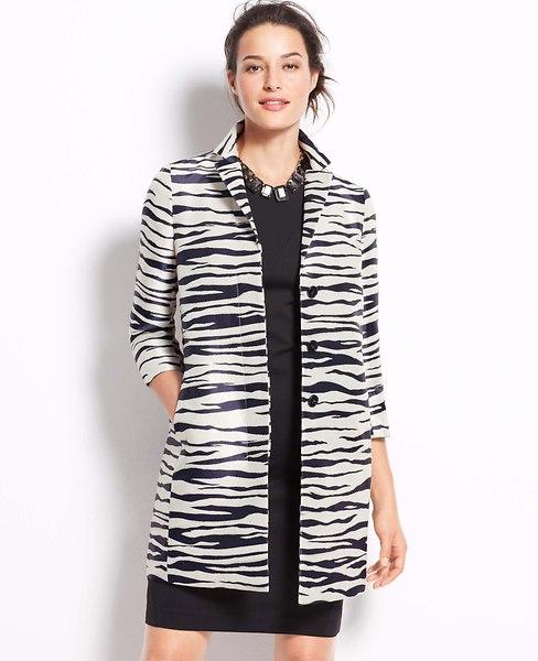 Petite Zebra Jacquard Topper | Ann Taylor