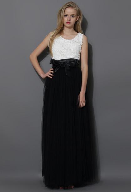 skirt amore maxi tulle skirt prom black