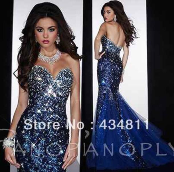 dress dazzling blue formal prom dress s