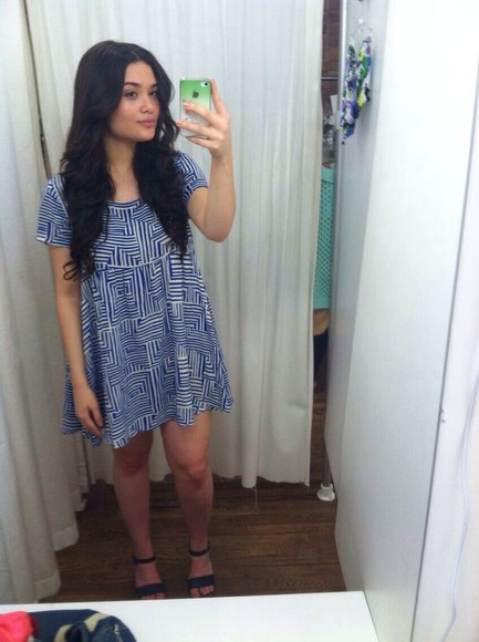 american apparel blue dress blue and white dress babydoll dress cute dress summer dress mynamesdiana