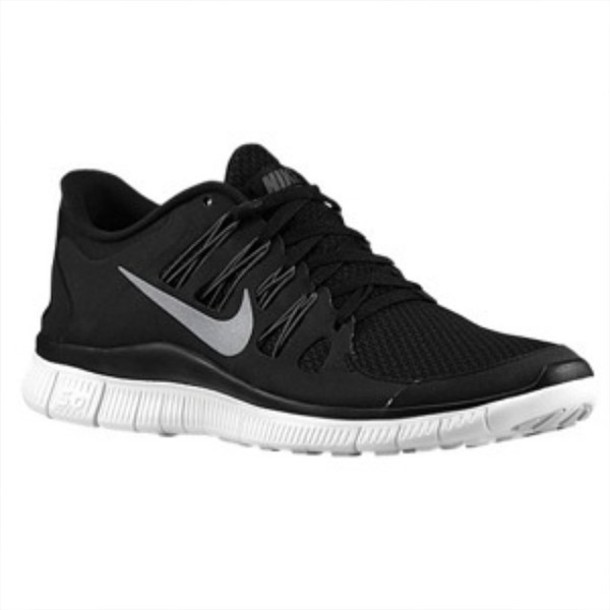 black nike running shoes tumblr. shoes nike free run black women 5.0 v2 running and white tumblr
