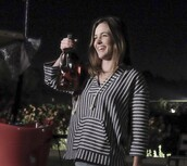 top,blue,white,stripes,blue and white,awkward,sweater,actress,worn on tv,tv/movies