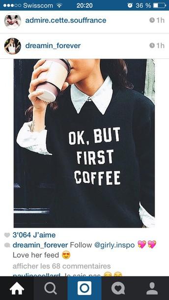 sweater t-shirt skirt coffee sweatshirt