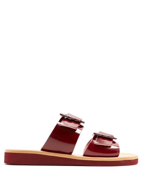 Ancient Greek Sandals sandals leather sandals leather burgundy shoes
