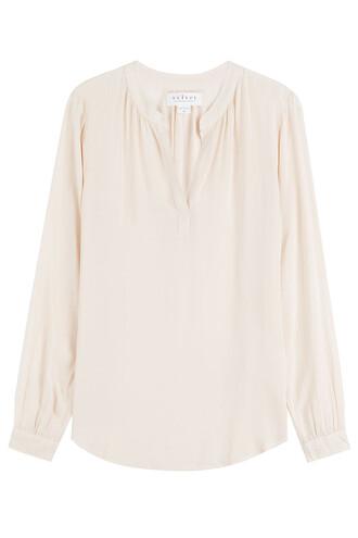 blouse beige top
