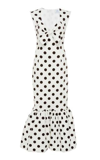 Tie-Front Polka-Dot Stretch-Cotton Maxi Dress by Rebecca de Ravenel | Moda Operandi