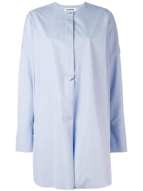 Jil Sander shirt women cotton blue top