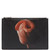 Flamingo-print coated-canvas pouch