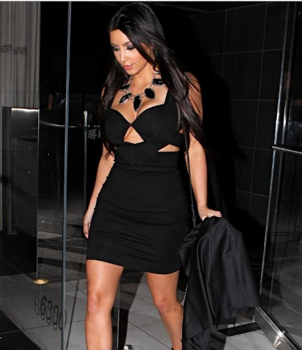 dress kim kardashian little black dress