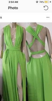 dress,green