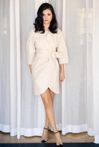 dress pumps selena gomez shoes leather leather dress wrap dress classy