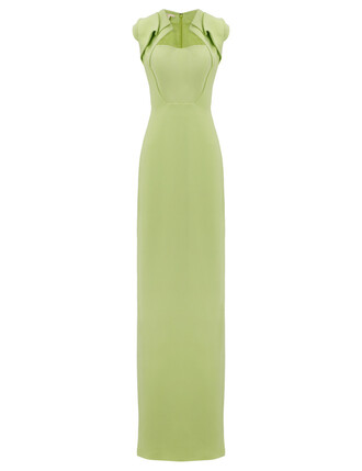 gown origami green lime dress