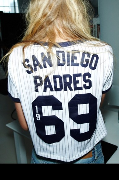 blue and white striped blouse san diego padres