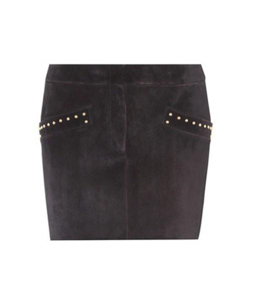 Saint Laurent skirt mini skirt mini suede black