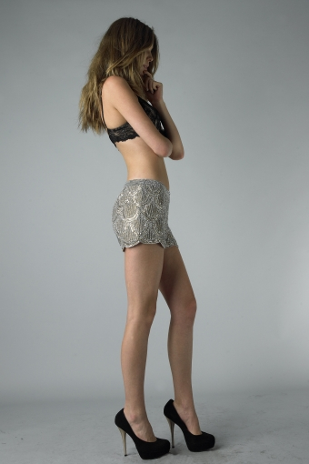 Basix Black Label - SH4114 - Taupe The Bachelorette Sequined Shorts