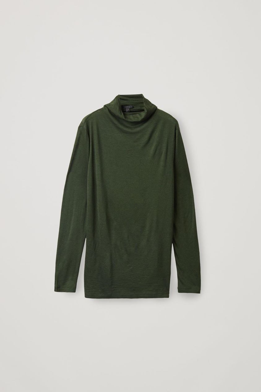 LONG ROLL-NECK MERINO JUMPER