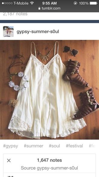 dress boho chic boho dress white dress concert outfit concert festival festival dress shoes