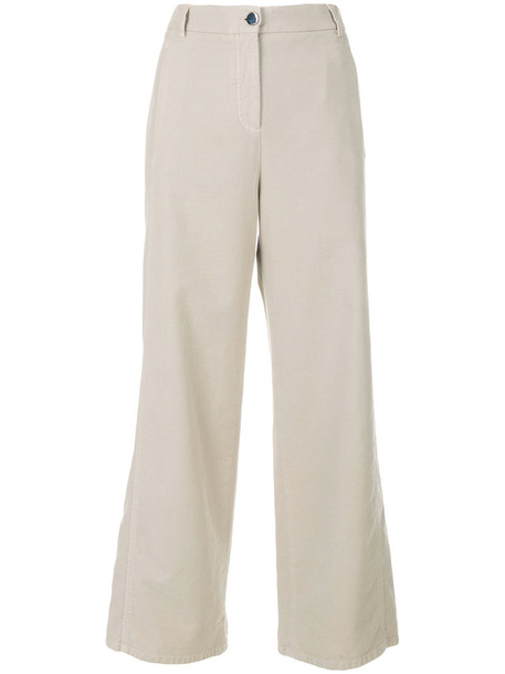 INCOTEX casual cropped women spandex nude cotton pants