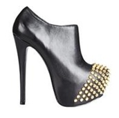 shoes,steve madden,high heels,black,leather shoe,studded shoes,studded toe