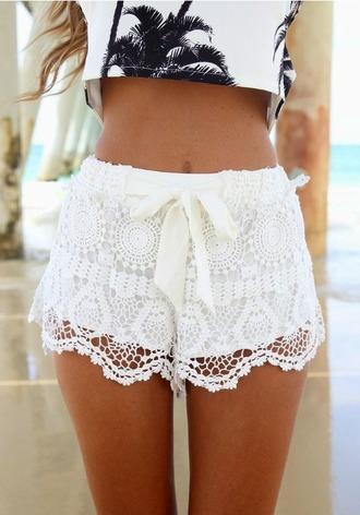 shorts lace shorts blouse