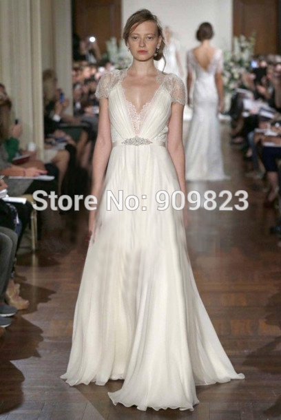 Aliexpress.com : buy zuhair murad dress v neck short sleeves with lace pleat beaded natural floor length a line evening dresses 2014 formal evening from reliable sleeve bodysuit suppliers on my classic garden