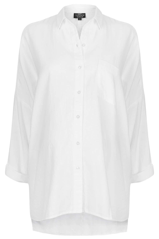 Maternity oversized chambray shirt