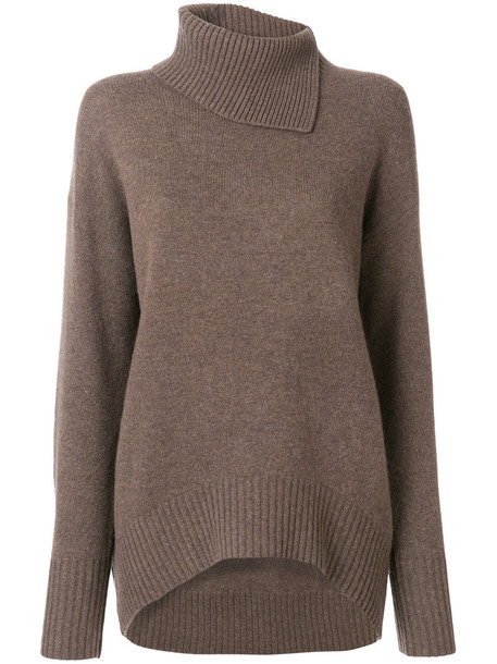 sweater women wool brown
