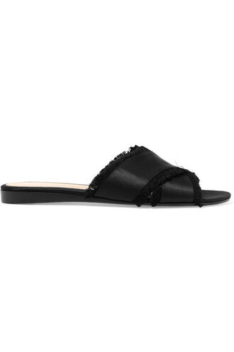 black satin shoes
