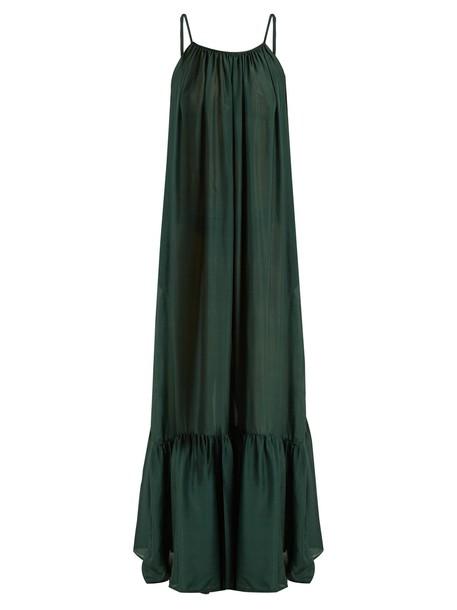 KALITA dress maxi dress maxi silk green
