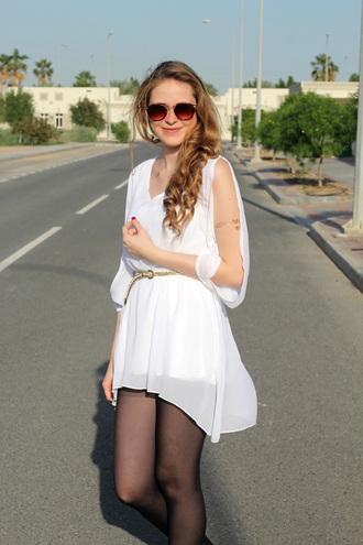 dress chiffon white summer flowy style fashion pretty spring trendy cut-out feminine