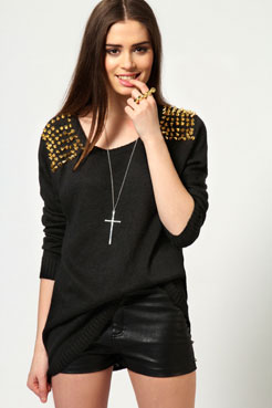 Mya Spike Shoulder Jumper at boohoo.com