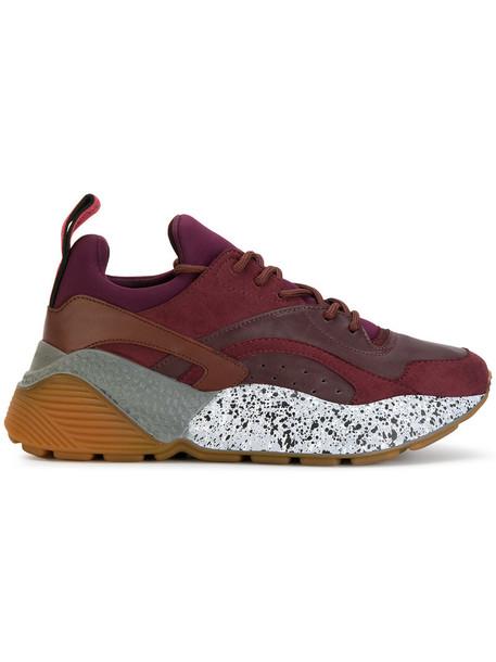 Stella McCartney women sneakers lace red shoes