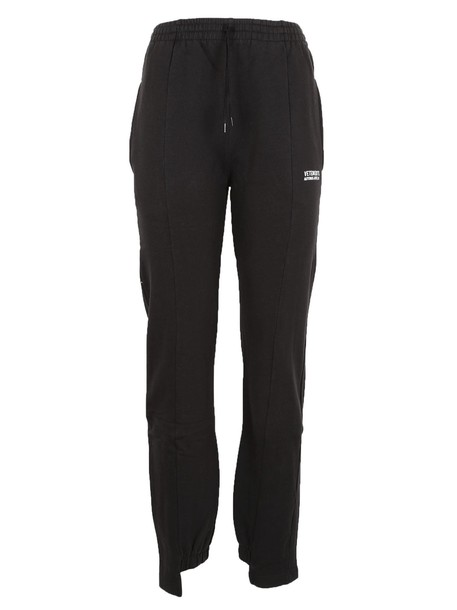 Vetements pants track pants black
