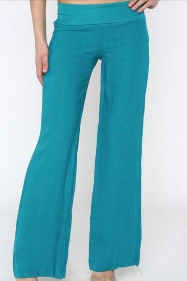 teal pants linen pants clothing boutique spring trends 2014