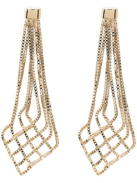 Rosantica women earrings grey metallic jewels