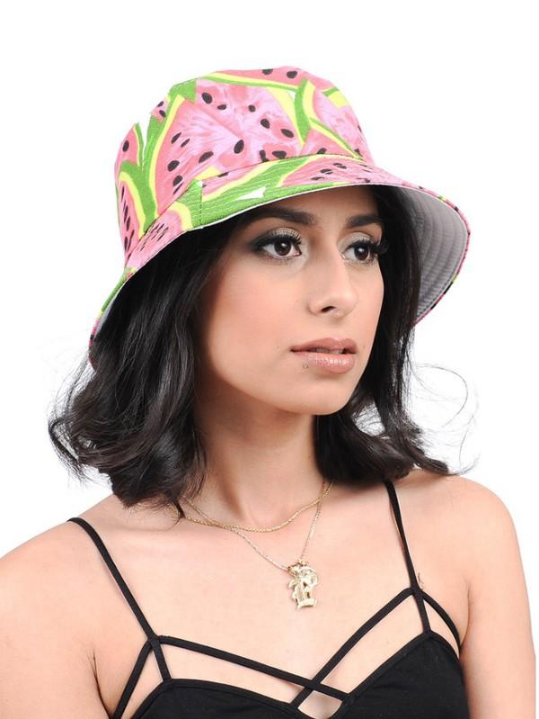Hat: bucket hats, watermelon bucket hat, women's hats ...