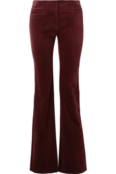 pants velvet burgundy