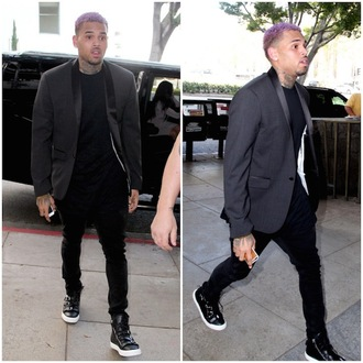 shoes chris brown black shoes
